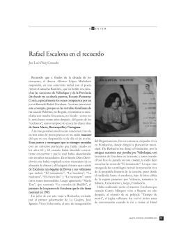 Rafael Escalona en el recuerdo.Pág. 91