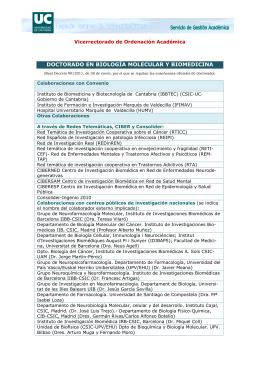 Colaboraciones - Universidad de Cantabria