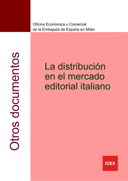 Distribución en el mercado editorial en Italia