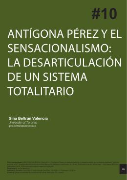 ANTÍGONA PÉREZ Y EL SENSACIONALISMO: LA