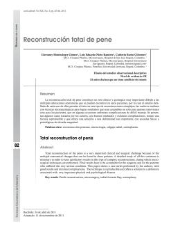 reconstrucción total de pene - Revista Urológica Colombiana