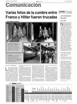 Varias fotos de la cumbre entre Franco y Hitler fueron trucadas