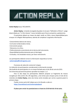 Action Replay​ busca TECLADISTA: Action Replay