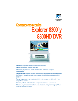 User Guide - 8300 and 8300HD DVR - Spanish version - Nu