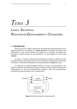 Lógica secuencial. Registros de desplazamiento y contadores