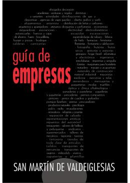 Guía de empresas de San Martín de Valdeiglesias