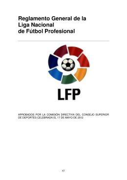Reglamento General de la Liga Nacional de Fútbol