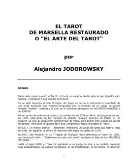 """EL TAROT DE MARSELLA RESTAURADO O """"EL"""