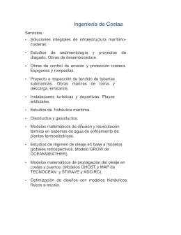 INGENIERIA DE COSTAS 2015 - Ingeniería de Consulta Incostas, SA