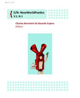 {S/N: NewWorldPoetics - Electronic Poetry Center