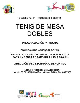 Tenis de Mesa Dobles