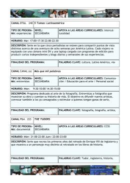 Guía técnica canales y series DIRECTV