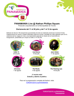 PANAMANIA Live @ Nathan Phillips Square