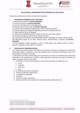Formatos para descargar - Colegio de Obstetras del Perú