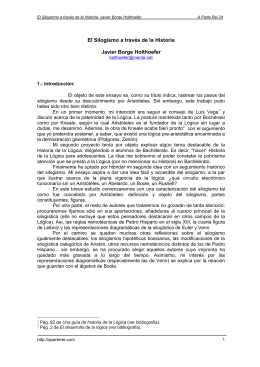 El Silogismo a través de la Historia Javier Borge Holthoefer