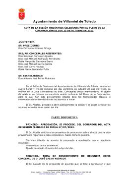 23 de Octubre - Ayuntamiento de Villamiel de Toledo