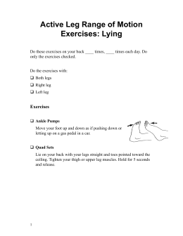 Active Leg Range of Motion Exercises: Lying - Spanish