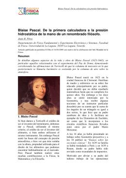 Blaise Pascal. De la primera calculadora a la