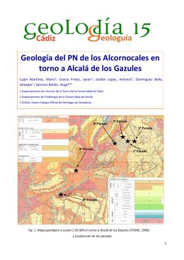 Geología del PN de los Alcornocales en torno a Alcalá de los Gazules