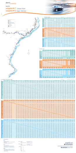 Tarifes 2015 - Abertis autopistas