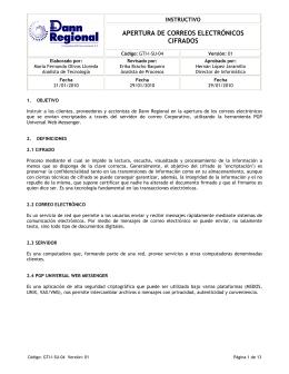 APERTURA DE CORREOS ELECTRÓNICOS CIFRADOS