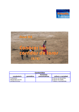 Conocer las corridas de toros 2. Nivel B2 Guía didáctica