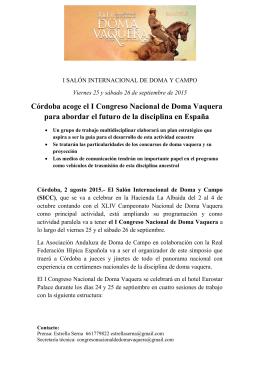 I Congreso Doma Vaquera