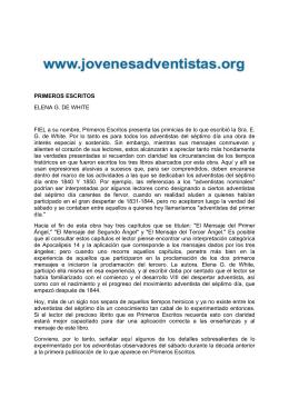 PRIMEROS ESCRITOS ELENA G. DE WHITE FIEL a