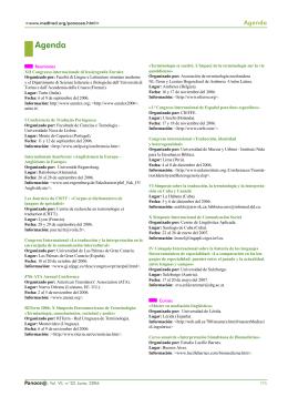 Panace@ - Boletín de Medicina y Traducción