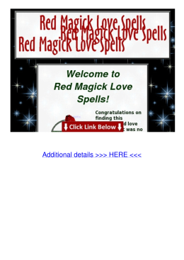 DOC Red Magic Love Spells 94v1