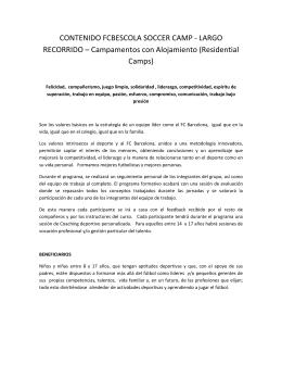 CONTENIDO FCBESCOLA SOCCER CAMP