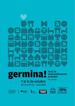 Catálogo de emprendedores y emprendedoras Germina!
