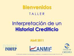 Interpretación de un Historial Crediticio Bienvenidos
