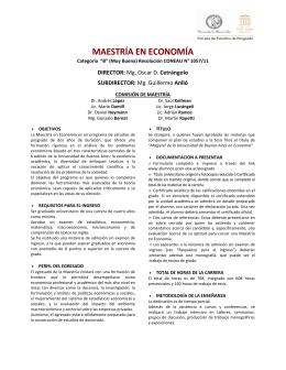 MAESTRÍA EN ECONOMÍA - Facultad de Ciencias Económicas
