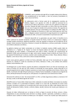 SANTOS - Provincia de España, Orden de San Agustín