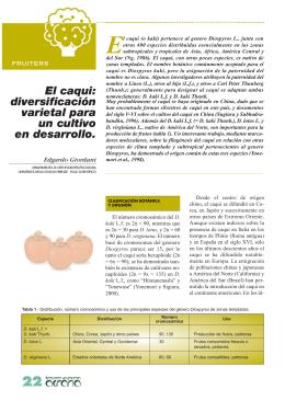 el caqui: diversificación varietal para un cultivo en desarrollo