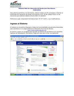 Sistema Web de Liberación de Deuda para Escribanos