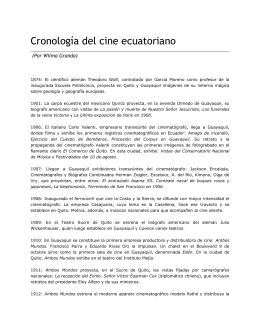 Cronología del cine ecuatoriano