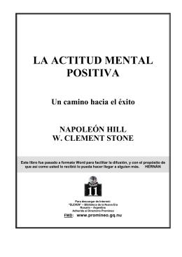 La Actitud Mental Positiva: Un Camino Hacia el Éxito