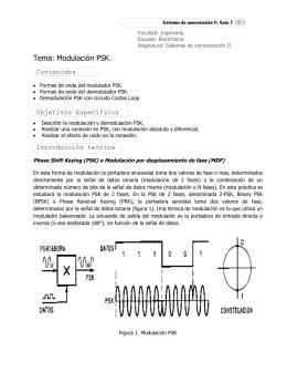 Tema: Modulación PSK.