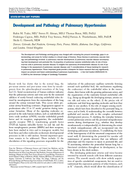 Development and Pathology of Pulmonary Hypertension