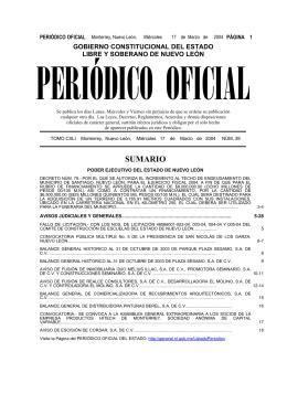 Hojear en línea - Gobierno del estado de Nuevo León
