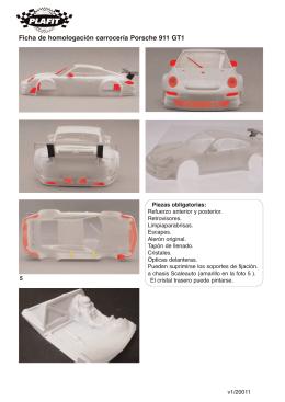 Ficha de homologación carrocería Porsche 911 GT1
