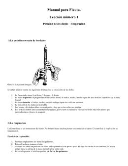 Manual para Flauta. Lección número 1