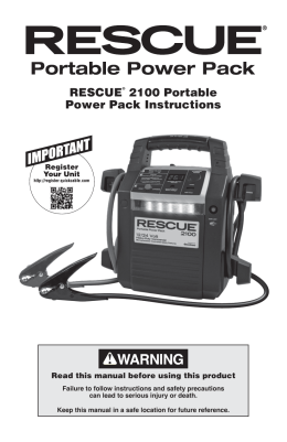 RESCUE® 2100 Portable Power Pack Instructions