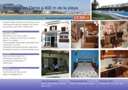 Bungalow en Denia a 400 m de la playa