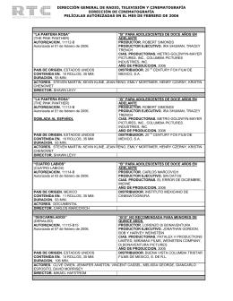 Febrero 2006 - Dirección General de Radio, Televisión y