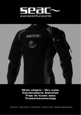 Mute stagne • Dry suits Combinaisons étanches Traje