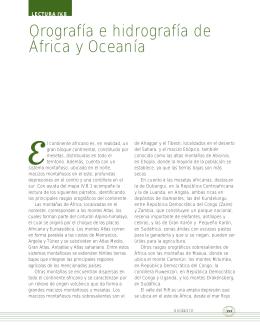 Orografía e hidrografía de África y Oceanía
