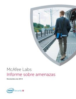 McAfee Labs Informe sobre amenazas